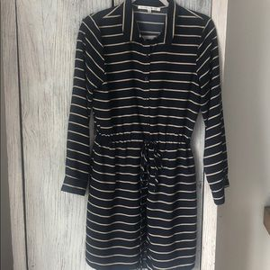 Like new Collective Concepts Navy striped dress